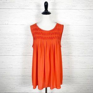 LOFT • Orange Sleeveless Blouse